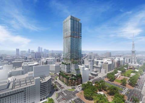 栄地区最大 栄角地は200メートル級の超高層ビルに