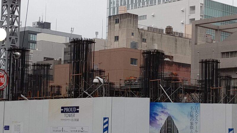 いよいよ躯体工事が開始 「(仮称)中区錦二丁目7番第一種市街地再開発事業」(プラウドタワー錦) 2020年10月