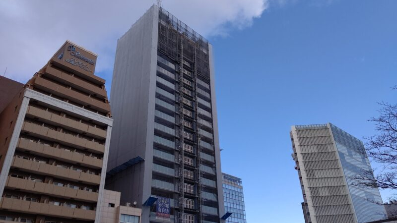 桜通り沿いに大きな存在感 「プレサンスタワー久屋大通ザ・レジデンス」建設状況2021年1月