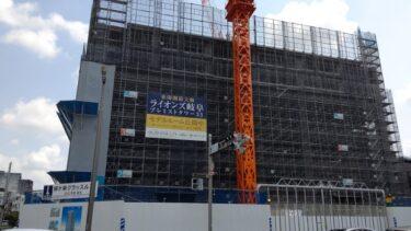 岐阜・柳ヶ瀬大規模再開発 「柳ヶ瀬グラッスル35」建設状況 2021年7月